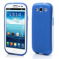 Gelové rámované pouzdro na Samsung Galaxy S3 i9300- modré