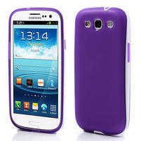Gélové rámované puzdro pre Samsung Galaxy S3 i9300- fialové