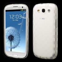 Gélové koskaté puzdro na Samsung Galaxy S3 i9300- transparentný