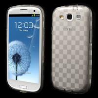 Gélové koskaté puzdro na Samsung Galaxy S3 i9300- šedé
