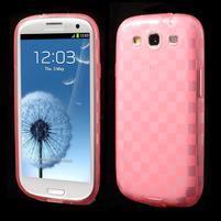 Gélové koskaté puzdro na Samsung Galaxy S3 i9300- růžové