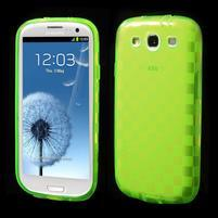 Gélové koskaté puzdro na Samsung Galaxy S3 i9300- zelené