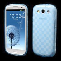 Gélové koskaté puzdro na Samsung Galaxy S3 i9300- modré