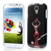 Gélové puzdro pre Samsung Galaxy S4 i9500- lakovaná žena