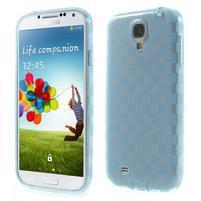 Gélové kosočvercové puzdro na Samsung Galaxy S4 i9500- modré