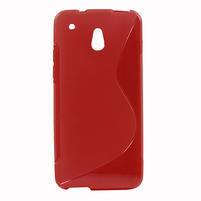 Gélové S-line puzdro pre HTC one Mini M4- červené