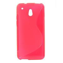Gélové S-line puzdro pre HTC one Mini M4- ružové