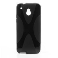 Gélové X-line puzdro pre HTC one Mini M4- čierné