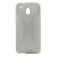 Gélové X-line puzdro pre HTC one Mini M4- šedé