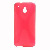 Gélové X-line puzdro pre HTC one Mini M4- ružové