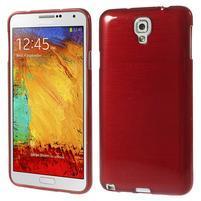 Gélové kartáčované puzdro na Samsung Galaxy Note 3- červené