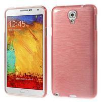 Gélové kartáčované puzdro pre Samsung Galaxy Note 3 Neo- svetloružové