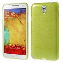Gélové kartáčované puzdro pre Samsung Galaxy Note 3 Neo- zelené