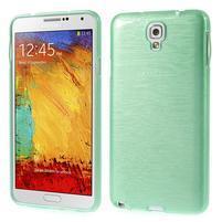 Gélové kartáčované puzdro na Samsung Galaxy Note 3- cyan