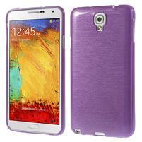 Gélové kartáčované puzdro na Samsung Galaxy Note 3- fialové