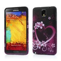 Gélové puzdro na Samsung Galaxy Note 3- srdce