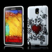 Gélové puzdro na Samsung Galaxy Note 3- horké srdce
