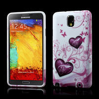 Gélové puzdro na Samsung Galaxy Note 3- dvě srdce