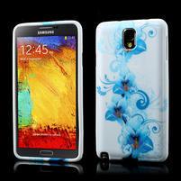 Gélové puzdro na Samsung Galaxy Note 3- modrá lilie