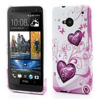 Gélové puzdro pre HTC one M7- dve srdca