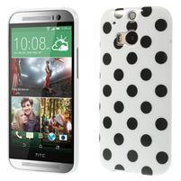 Gélové-PUNTÍKY puzdro pre HTC one M8- čierné