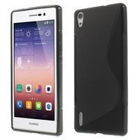 Gélové S-line puzdro na Huawei Ascend P7- čierné