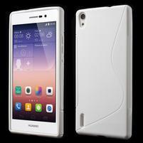 Gélové S-line puzdro na Huawei Ascend P7- biele