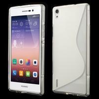 Gélové S-line puzdro na Huawei Ascend P7- transparentný