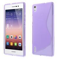 Gélové S-line puzdro na Huawei Ascend P7- fialové