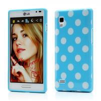 Gélové PUNTÍK puzdro pre LG Optimus L9 P760- modré