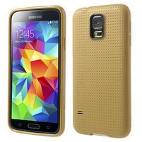 Gélové puzdro pre Samsung Galaxy S5- zlaté