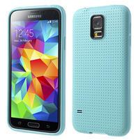 Gélové puzdro pre Samsung Galaxy S5- svetlomodré