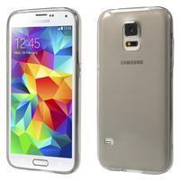 Gelové ultraslim pouzdro na Samsung Galaxy S5- šedé