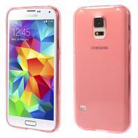 Gelové ultraslim pouzdro na Samsung Galaxy S5- červené