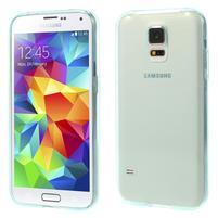 Gélové ultraslim puzdro pre Samsung Galaxy S5- svetlomodré