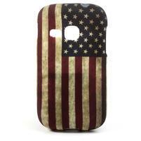 Gélové puzdro na Samsung Galaxy Young S6310- USA vlajka
