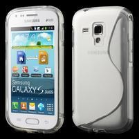 Gélové S-line puzdro pre Samsung Trend plus, S duos- transparentný