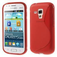 Gélové S-line puzdro pre Samsung Trend plus, S duos- červené