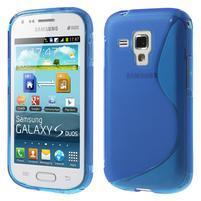 Gélové S-line puzdro pre Samsung Trend plus, S duos- modré