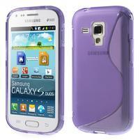 Gélové S-line puzdro pre Samsung Trend plus, S duos- fialové