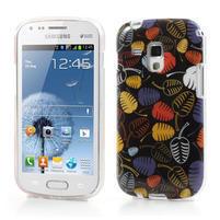 Gélové puzdro na Samsung Galaxy Trend, Duos- lístky