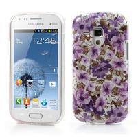 Gélové puzdro na Samsung Galaxy Trend, Duos- fialové květy