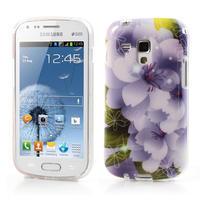 Gélové puzdro na Samsung Galaxy Trend, Duos- elegantný květ