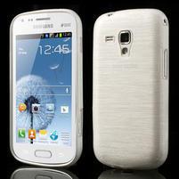 Kartáčované puzdro pre Samsung Galaxy Trend, Duos- biele