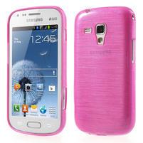 Kartáčované puzdro pre Samsung Galaxy Trend, Duos- ružové