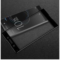 GT fixační celoplošné tvrdené sklo pre Sony Xperia XA1 - čierný lem
