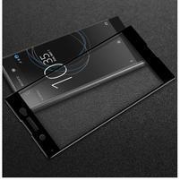GT fixační celoplošné tvrdené sklo pre Sony Xperia XA1 Ultra - čierný lem