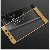 GT fixační celoplošné tvrdené sklo pre Sony Xperia XA1 Ultra - zlatý lem