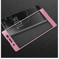 GT fixační celoplošné tvrdené sklo pre Sony Xperia XA1 Ultra - ružový lem
