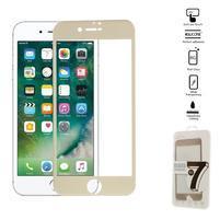 GT celoplošné fixačné tvrdené sklo na iPhone 7 a iPhone 8 - zlaté